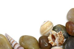 Seashells et pierres photos stock