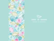 Seashells line art horizontal decor seamless Royalty Free Stock Photography