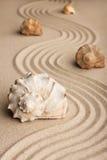 Seashells na piasku Obrazy Royalty Free