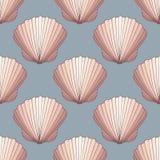 seashells Priorità bassa decorativa senza giunte di vettore illustrazione di stock