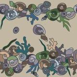 Seashells random pattern vector illustration