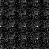 Seashells seamless pattern. Black Royalty Free Stock Image