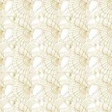 Seashells seamless pattern. Gold Royalty Free Stock Photos