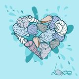 Seashells set. Vector Stock Photos