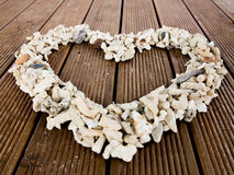 Seashells in the shape of a heart Stock Photo