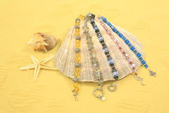 Seashells, stelle marine & monili Fotografie Stock