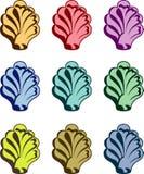 Seashells variopinti royalty illustrazione gratis