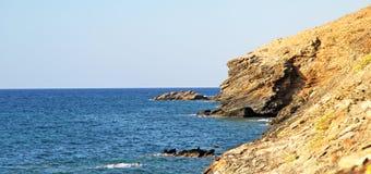 Seashore на Крите стоковое фото