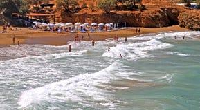 Seashore на Крите стоковое изображение rf