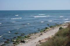 Seashore на севере курорта Vama Veche на Чёрном море в Румынии Стоковое Фото