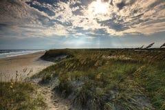 Seashore Северная Каролина Гаттераса плащи-накидк утра светлый стоковое изображение rf