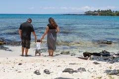 seashore семьи стоковые изображения