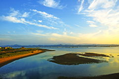 seashore сумрака Стоковая Фотография RF