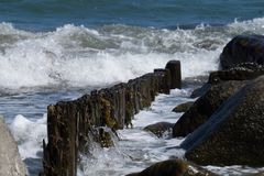 Seashore с волнами Стоковые Изображения RF