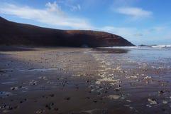 Seashore с камешками и сводом Стоковая Фотография RF