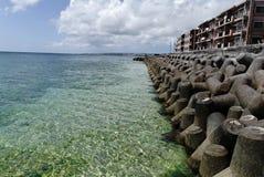 Seashore. Scenery of the seashore in Okinawa Royalty Free Stock Photography