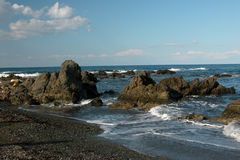 Seashore, Paphos - Cyprus. Rocky Seashore at  Akamas peninsula in Paphos area,  Cyprus Stock Photo