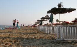 Beach, Larnaca, Cyprus Stock Photography