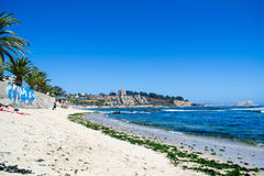 Seashore in Algarrobos Chile. Wide view of seashore in Algarrobo Chile Royalty Free Stock Images