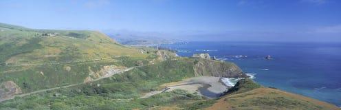 Seashore along Highway 1 Stock Images