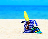 Beach accessories. Concept of summer vacations Stock Image
