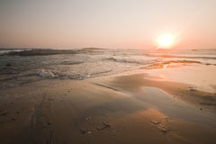 Seashore beach sunset Royalty Free Stock Photos