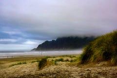 Free Seashore Beach With Morning Fog Stock Photography - 172296662