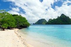 Beautiful tropical seascape. Sky and sea Royalty Free Stock Image