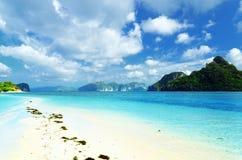 Beautiful tropical seascape. Sky and sea Royalty Free Stock Photos