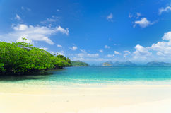 Beautiful tropical seascape. Sky and sea Royalty Free Stock Images