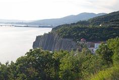 Seashore blisko Novorossiysk Zdjęcie Stock