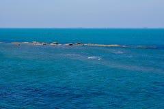 Seashore, blue water, Caspian sea Royalty Free Stock Images
