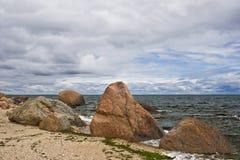 seashore boulder Zdjęcia Stock
