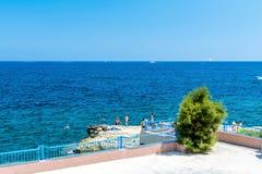 Seashore in Bugibba. Seashore in the town of Bugibba, Malta Royalty Free Stock Photo