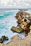 Seashore at Cancun, Mexico Stock Photo