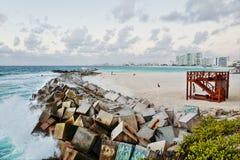 Seashore at Cancun, Mexico Stock Image