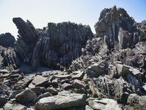 Seashore at Cape Muroto. Seashore rocks at Cape Muroto, Kochi, Japan Stock Photo