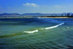 Seashore city. Weihai Shandong China, seashore urban scenery Stock Images