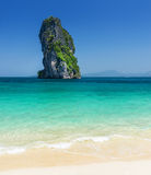 Clear water and blue sky. Phra Nang beach, Thailan Stock Photos