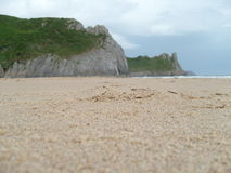 Seashore with cliffs Royalty Free Stock Images