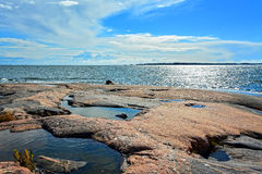 Seashore and cliffs on Baltic Sea II Royalty Free Stock Images