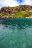Seashore com ondas e espuma Fotos de Stock
