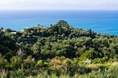 Seashore on Corfu island - Greece Royalty Free Stock Photography