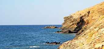 Seashore at Crete stock photo