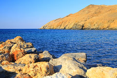 Seashore at Crete stock images