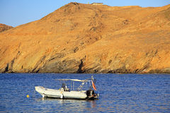 Seashore at Crete stock photography