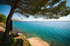 Seashore in Croatia Stock Photography