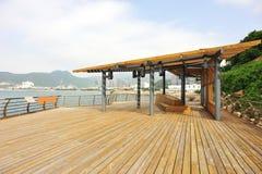Seashore deck Stock Images