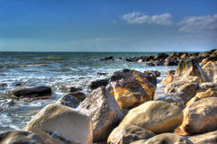 Seashore Details. Nice Detail of Rocky Seashore enhanced to HDR Royalty Free Stock Photos