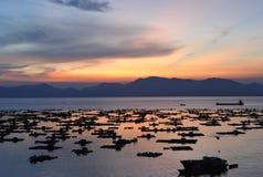 Seashore dusk Royalty Free Stock Photo